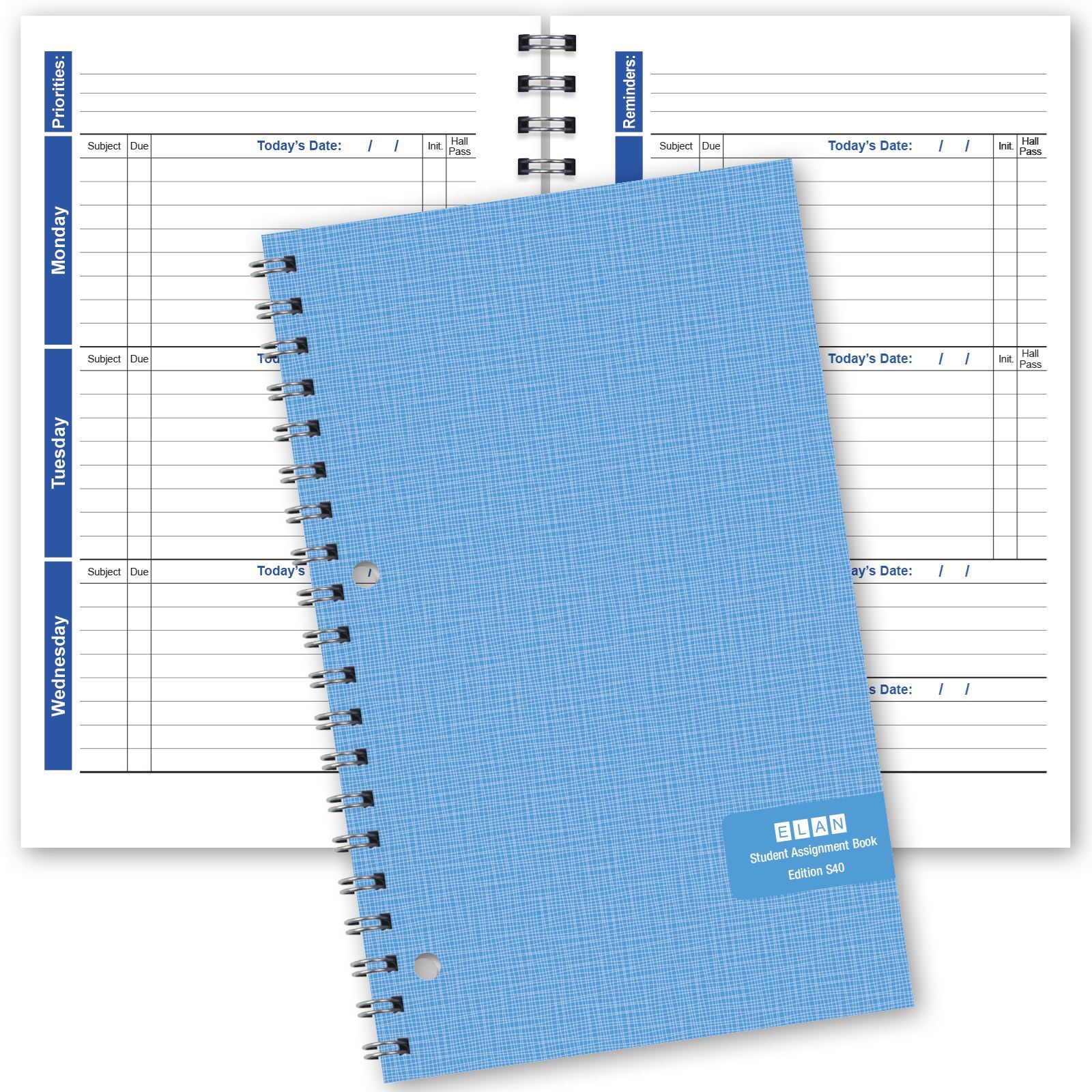 Picture of Blue (Weekly Format) Student Assignment Book (S85)