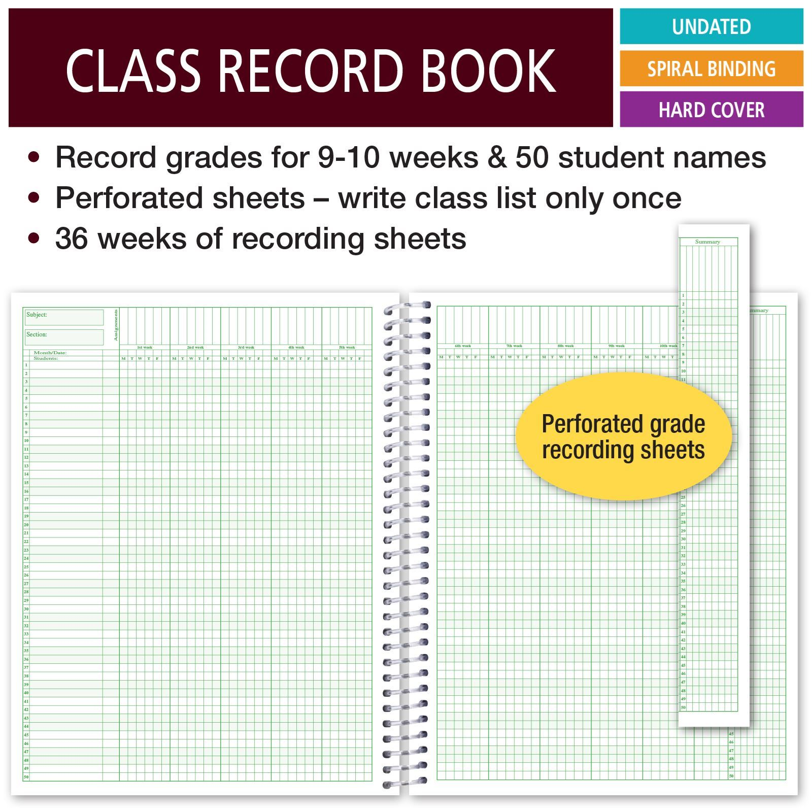 Picture of Class Record Book for 9-10 Weeks