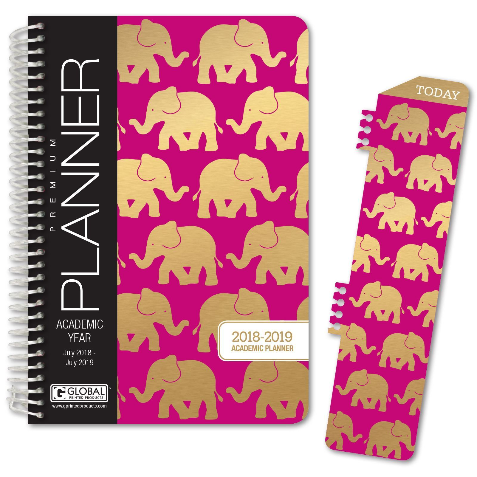 HARDCOVER Academic Year Planner 2018-2019 5.5/'x8/' Daily Planner//Weekly Plan...