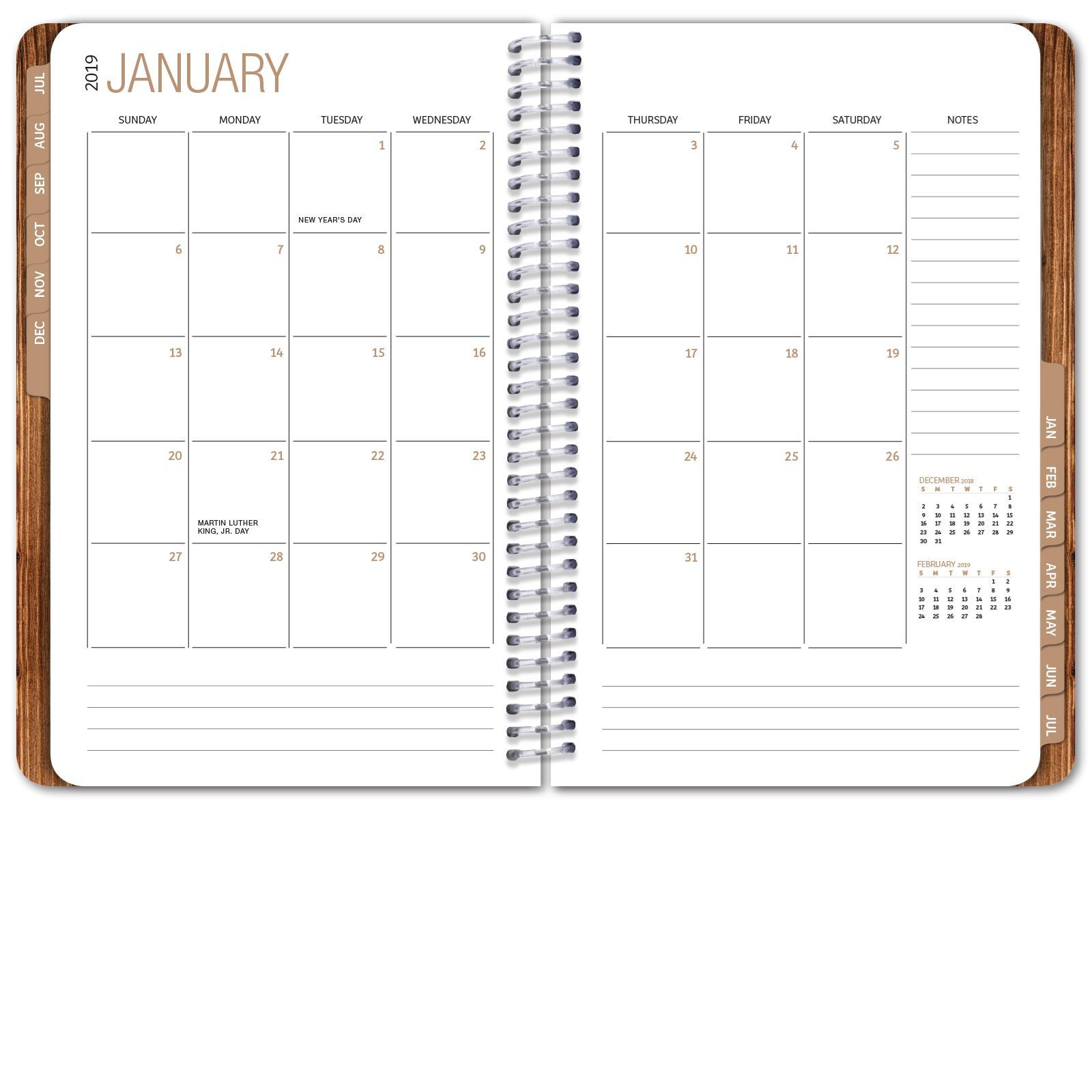 Picture of HARDCOVER Academic Year Planner 2018-2019 (Woodgrain)