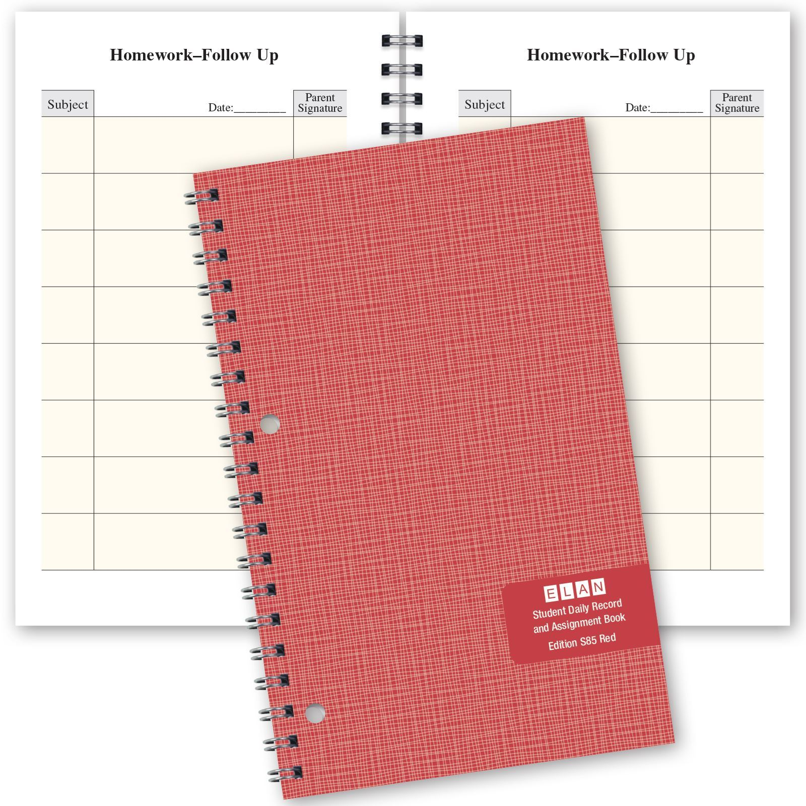 Picture of Red (Daily Format) Student Assignment Book (S85)