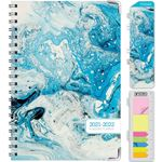 """Picture of HARDCOVER Academic Year 5.5""""x 8.5"""" Planner 2021-2022 (BLUE MARBLE)"""